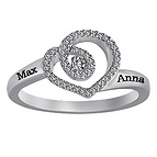 1/6 Ct. tw Diamond Couple's Heart Ring