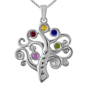Color Stone Mother's Necklace