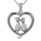 Couple's Heart Necklace