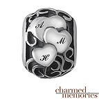Charmed Memories Family Heart Charm Sterling Silver