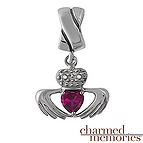 Charmed Memories Claddagh Dangling Charm Sterling Silver