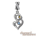 Charmed Memories Color Stone Charm Sterling Silver