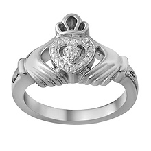 Heart Claddagh Ring