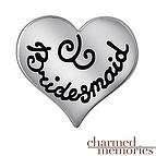 Charmed Memories Bridesmaid Heart Charm Sterling Silver