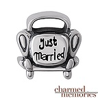 Charmed Memories Just Married Car Charm Sterling Silver