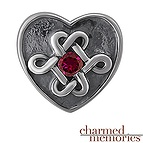 Charmed Memories Color Stone Celtic Charm Sterling Silver