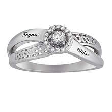 1/10 Ct. tw Diamond Couple's Heart Ring