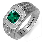 1/10 Ct. tw Diamond Color Stone Men's Ring