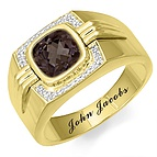 1/15 Ct. tw Diamond Color Stone Men's Ring