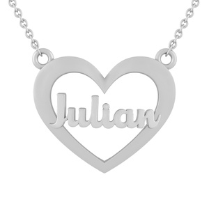 Heart Name Plate Necklace