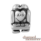 Charmed Memories Love Birds Charm Sterling Silver