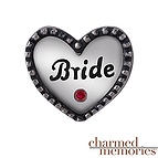 Charmed Memories Bride Heart Charm Sterling Silver