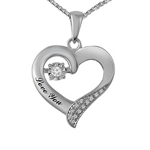 Diamonds in Rhythm Heart Necklace 1/20 Ct. tw Diamond