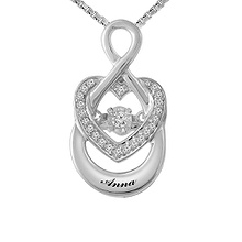 Diamonds in Rhythm Heart Necklace 1/15 Ct. tw Diamond
