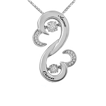 Diamonds in Rhythm Heart Necklace