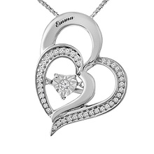 Diamonds in Rhythm Heart Necklace 1/10 Ct. tw Diamond
