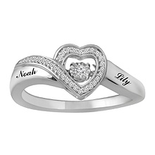 Diamonds in Rhythm Heart Ring 1/10 Ct. tw Diamond