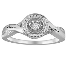 Diamonds in Rhythm Ring 1/10 Ct. tw Diamond