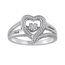 Diamonds in Rhythm Heart Ring 1/8 Ct. tw Diamond