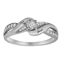 1/20 Ct. tw Diamond Color Stone Couple's Ring