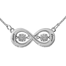 Diamonds in Rhythm Couple's Heart Necklace