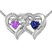 colors in rhythm couples heart necklace color stone - Wedding Rings At Kay Jewelers