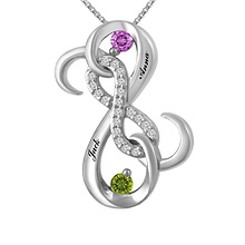 1/15 Ct. tw Diamond Color Stone Necklace