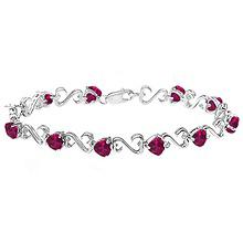 Color Stone Heart Bracelet