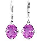 Color Stone Drop Earrings
