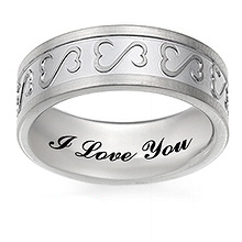 Heart Wedding Band Titanium