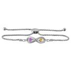 Color Stone Couples Bracelet Sterling Silver