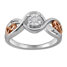 1/20 Ct. tw Diamond Heart Ring Sterling Silver