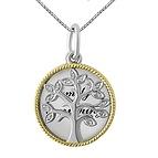 1/15 Ct. tw Diamond Family Tree & Disc Necklace