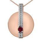 1/8 Ct. tw Diamond Color Stone Necklace