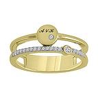 1/10 Ct. tw Diamond Disc Ring