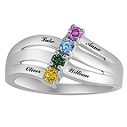 Color Stone Mothers Ring