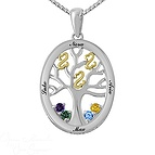 Color Stone Mothers Necklace Sterling Silver