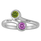 Color Stone Couples Ring