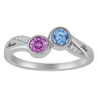 Couples Diamond and Color Stone Ring