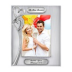 Double Hearts Picture Frame