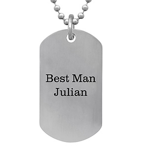 Mens Dog Tag Necklace Titanium