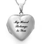 Heart Locket Necklace Sterling Silver