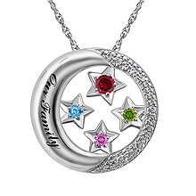 Color Stone Mothers Necklace