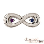 Charmed Memories Couples Infinity Charm Sterling Silver