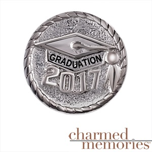 Charmed Memories 2015 Graduation Cap Charm Sterling Silver