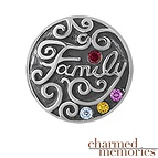 Charmed Memories Family Bead Sterling Silver Charm
