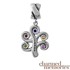 Charmed Memories Family Tree Charm Sterling Silver