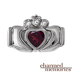 Charmed Memories Claddagh Heart Charm Sterling Silver
