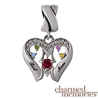 Charmed Memories Joining Hearts Charm Sterling Silver