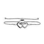 Couples Heart Bracelet Sterling Silver
